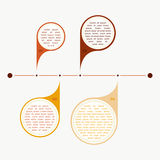 Vector colorful timeline info graph Stock Photography