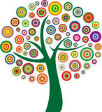 Vector colorful tree Royalty Free Stock Photos