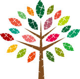 Vector colorful tree Royalty Free Stock Images