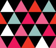 Vector colorful triangles seamless pattern background. vector illustration