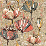 Vector colorful tulips pattern. Seamless  can be used for wallpapers,  fills, web page backgrounds, surface textures Stock Image