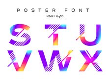 Vector Colorful Typeset. Blue, Pink, Purple Neon Colors. Liquid Bright Paint Effect. Urban Techno Type for Logo, Fashion Show, DJ Poster, Sale Banner, Music Stock Photo