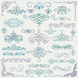 Vector Colorful Vintage Hand Drawn Swirls Royalty Free Stock Photography
