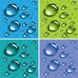 Vector Colorful Water Drops Royalty Free Stock Photo