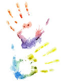 Vector colorful watercolor hand Stock Photography