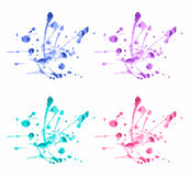 Vector colorful watercolor splashes set Royalty Free Stock Images