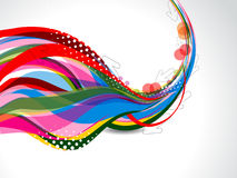 Vector colorful Wave Background Stock Photos