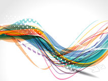 Vector Colorful Wave Background Stock Images