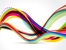 Vector Colorful Wave Background Royalty Free Stock Photo
