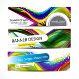 Vector colorful wave banner Stock Images