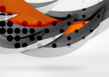 Vector colorful wave lines in white and grey 3d space Stock Photography