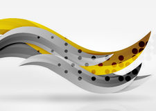 Vector colorful wave lines in white and grey 3d space Royalty Free Stock Photos