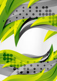 Vector colorful wave lines in white and grey 3d space Stock Image