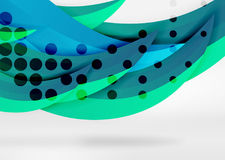 Vector colorful wave lines in white and grey 3d space Royalty Free Stock Photo