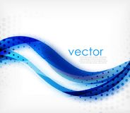 Vector colorful wavy stripe on white background with blurred effects. Vector digital techno abstract background Royalty Free Stock Images