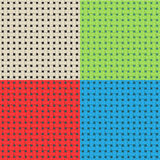 Vector colorful weave seamless patterns Royalty Free Stock Image
