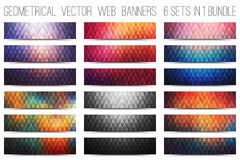 Vector Colorful Web Banners Set Stock Photo