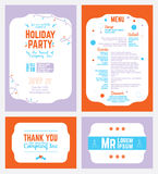 Vector Colorful Winter Holiday Party Invitation Stock Photos