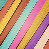 Vector colorful wooden background Stock Photo