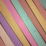 Vector colorful wooden background Royalty Free Stock Photos
