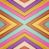 Vector colorful wooden background Stock Photography