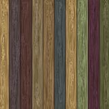 Vector colorful wooden background. Stock Photography