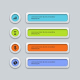 Vector colorfull business infographic design template Royalty Free Stock Photos