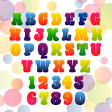 Vector colorfull gradient  font  eps 10 Royalty Free Stock Photo