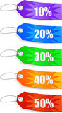 Vector ColorFull Sales Tags Royalty Free Stock Image