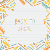 Vector colorfully back to school background. Stock Photos