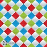 Vector colorfully mozaïek. Eenvoudig patroon in vier in kleuren. Royalty-vrije Stock Fotografie