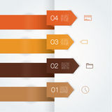 Vector colorfully template. Four clean arrows with place for you Royalty Free Stock Photo
