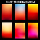 Vector colorido abstracto de la plantilla de la puesta del sol para el fondo de la presentación Imagen de archivo
