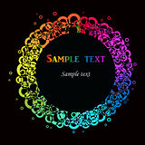 Vector colorido con su texto Imágenes de archivo libres de regalías