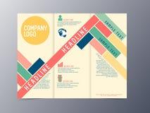 Vector colorido de la plantilla del folleto del diseño moderno Foto de archivo