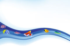 Vector colorido de la vida marina Foto de archivo libre de regalías