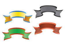 Vector colorido de las banderas stock de ilustración