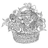 Vector coloring book for adult. Easter egg Stock Photo