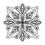 Vector coloring book for adult. Square page for relax and meditation. Stock Photo