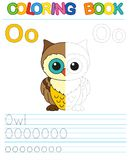 Vector coloring book alphabet. Restore dashed line royalty free illustration