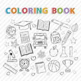 Vector coloring book.Education Stock Photography