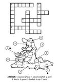 Vector colorless crossword. Goose on the beach Stock Image