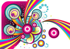 Vector colors abstract background illustration Royalty Free Stock Photo