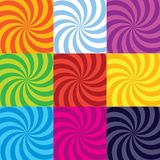 Vector colour-burst spiral swirl collection. Vector colour-burst swirl spiral collection royalty free illustration