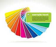 Vector colour guide Stock Images