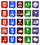 Vector colour navigation icons  Stock Photography
