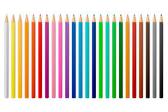 Vector colour pencils. Colour pencils isolated on a white background. Vector EPS10 illustration Stock Photos
