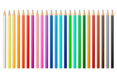 Vector colour pencils. Colour pencils on a white background. Vector EPS10 illustration stock illustration
