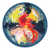 Vector colourful abstract round brush background paint Stock Photos