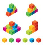 Vector colourful childrens blocks. Colourful childrens blocks. Vector illustration for your artwork Royalty Free Stock Image